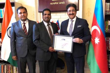 Sandeep Marwah Invited by Indian Embassy at Baku