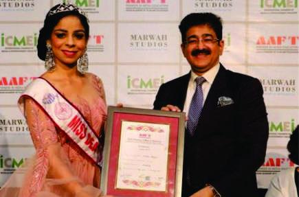 Vidisha Baliyan Honored With AAFT Diploma in Modeling