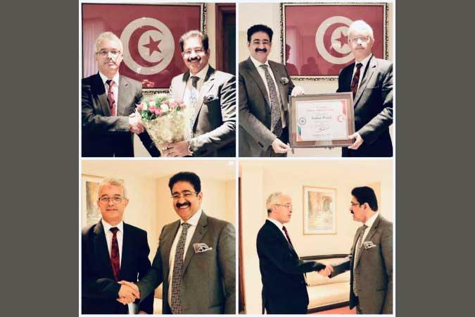 Nejmeddine Lakhal Parton to Indo Tunisia Cultural Forum