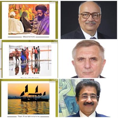 Spiritual Start of 9th Global Festival of Journalism with Photo Exhibition of Kumbh Mela