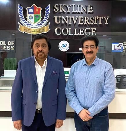 Sandeep Marwah of AAFT Invited by Skyline University in Sharjah
